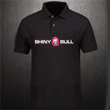 Shinybull-black-polo