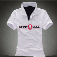Shinybull-white-polo